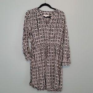 Black and White Geometric Dress